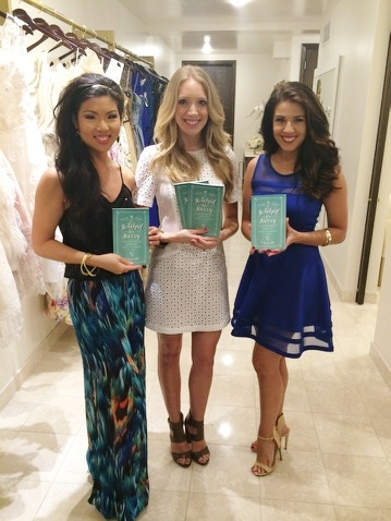 """Hitched in a Hurry"" is a must-have for any bride wanting to skip the extended engagement! Pictured L-R: Christine Tang, author Karley Kiker, and blog author Michelle Hanson."
