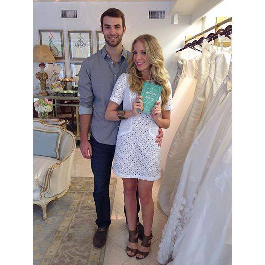 "Karley and her husband Taylor at the launch of ""Hitched in a Hurry"""