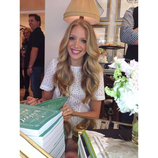 "The beautiful author Karley Kiker personally signing copies of her book ""Hitched in a Hurry"""